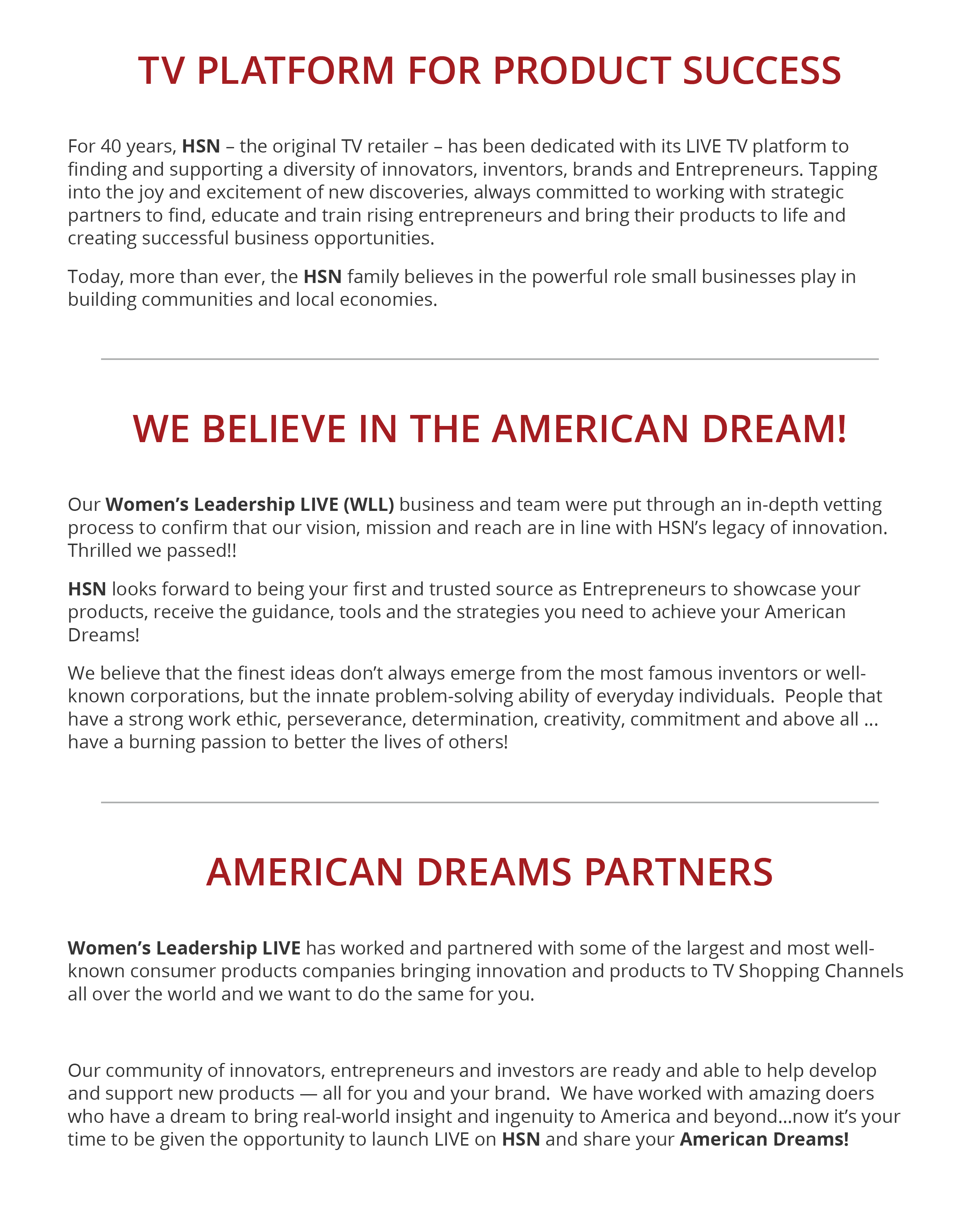 American Dreams Web Graphic Text Part 1