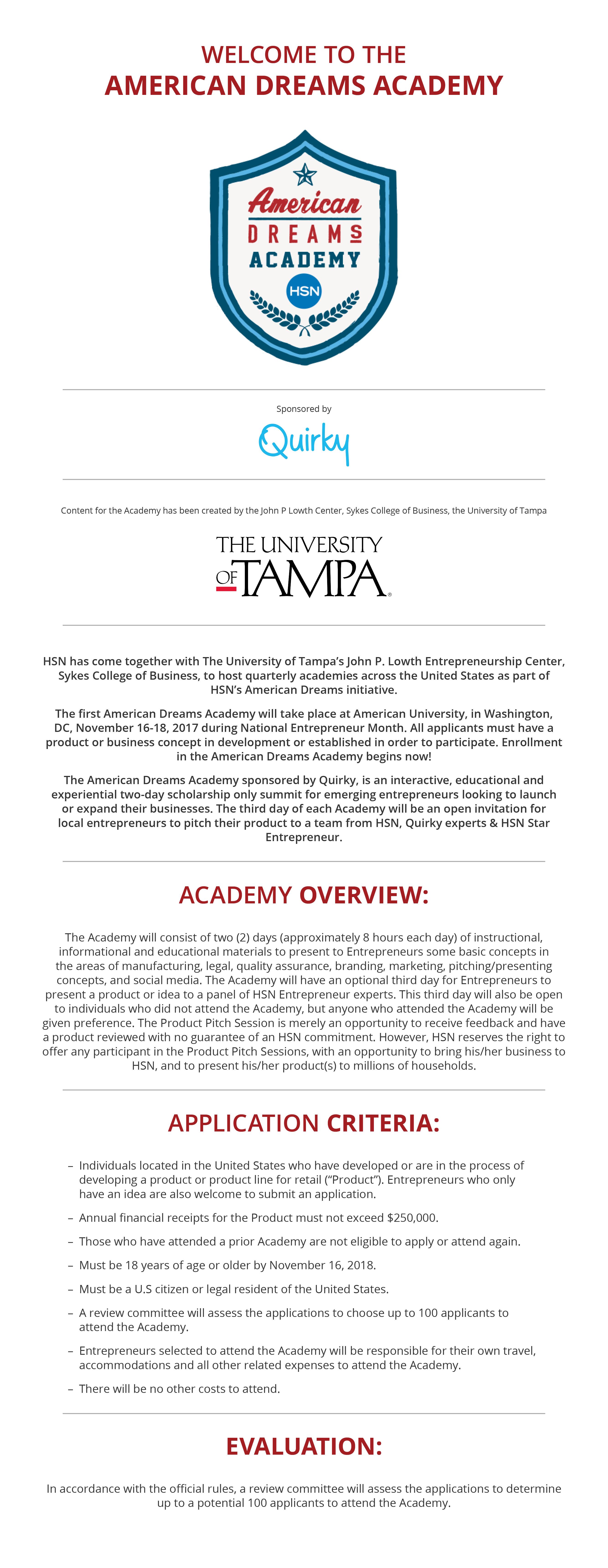 American Dreams Academy Web Graphic